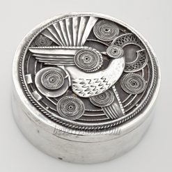 Art Deco Round Sterling Box
