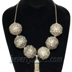 20th Century Ethnic Silver Statement Necklace