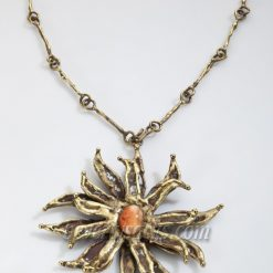 Pal Kepenyes Brass Flower Necklace