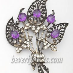 Pomerantz Purple Flower Brooch