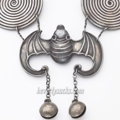 Hmong Silver Bat Neck Ring Necklace2