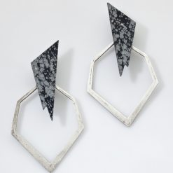 Stephend Weck Modern Sterling Earrings