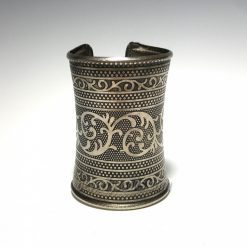 Ethnic Tribal Silver Cuff Bangle Bracelet
