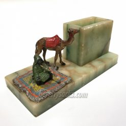 Arab and Camel Figurine on Marble Desk Stand 4