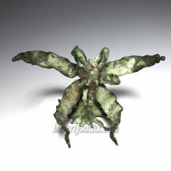 Bronze Abstract Night Flower Sculpture
