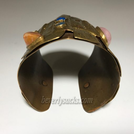 Juan Reyes Brass Copper Natural Gemstone Cuff Bracelet 8
