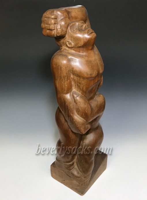 The Lovers Wood Sculpture by Charles Schlein