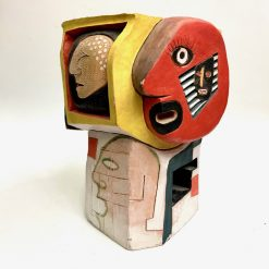 Doug Rochelle Abstract Faces Sculpture